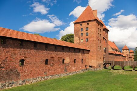 gothic castle: The Old Gothic castle in Malbork, Poland.