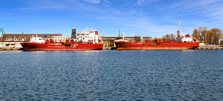 l p g: LPG tankers in port of Gdynia, Poland.