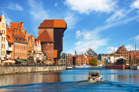 characteristic: The riverside with the characteristic promenade of Gdansk, Poland. Editorial