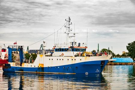 barca da pesca: Trawler una barca da pesca utilizzato per la pesca a strascico.