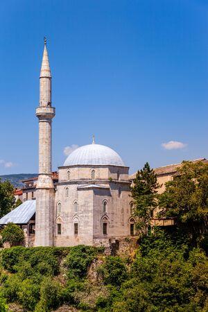 mehmed: Koski Mehmed Pasha Mosque in Mostar Bosnia and Herzegovina. Stock Photo