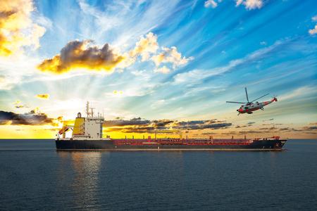 coastguard: Coastguard rescue helicopter is approaching the ship.