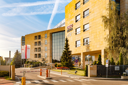 existence: Ergo Hestia - Polish group of insurance companies based in Sopot, in existence since 1991, on July 25, 2016 in Sopot, Poland.