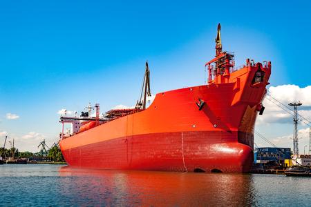shipper: A ship under construction at shipyard.