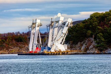 Big Gantry Crane in port of Stavanger, Norway.