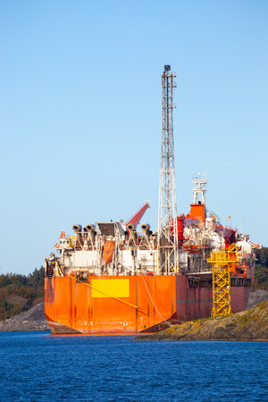 oil industry: Specialized ship to support the oil industry. Stock Photo