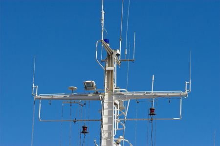 Ships Mast with all its communication systems