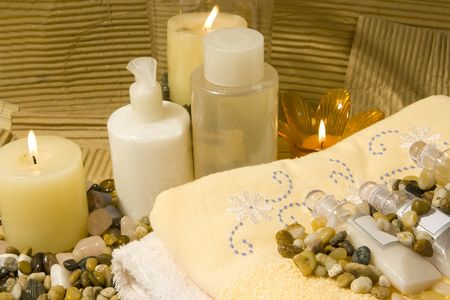 Spa products and candles, all natural products Zdjęcie Seryjne