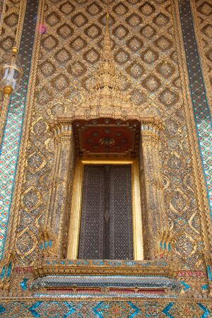 The Emerald Buddha temples window
