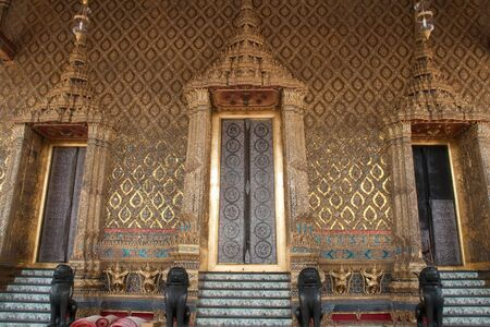 The Emerald Buddha temples pearl doors,Bangkok,Thailand
