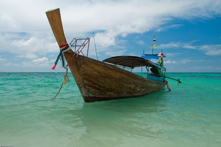 krabis local boat, the south of thailand