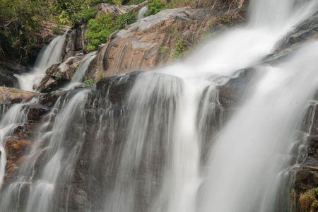 Mae Klang waterfall, Doi Inthanon, Chiang Mai, Thailand Stock Photo