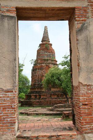 Ancient pagoda (Chedi) at Wat Ratchaburana Temple, Ayutthaya, Thailand Stock Photo