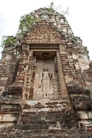 the Buddha figure, Wat Ratburana Temple, Ayutthaya, Thailand