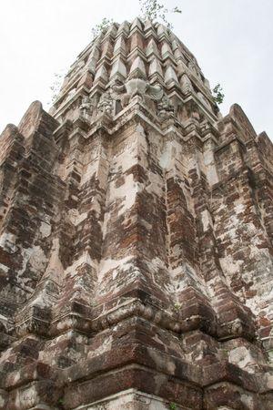 Phraprang (Stupa) at Wat Ratburana Temple, Ayutthaya, Thailand Stock Photo
