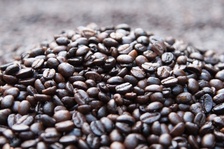 parch: dry coffee parch Stock Photo