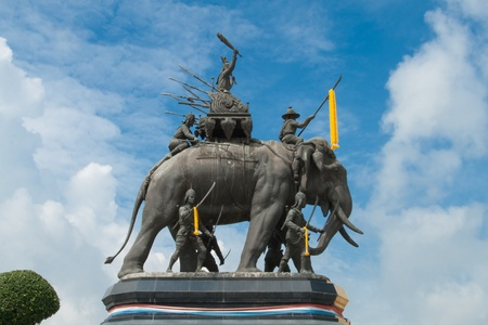 Suriyothai Monument, Ayutthaya,Thailand photo