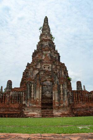 Phra Prang (stupa) of Wat Chaiwattanaram temple,Ayutthaya,Thailand Stock Photo