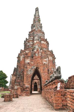 die cut Wat Chaiwattanaram temples arch,Ayutthaya,Thailand