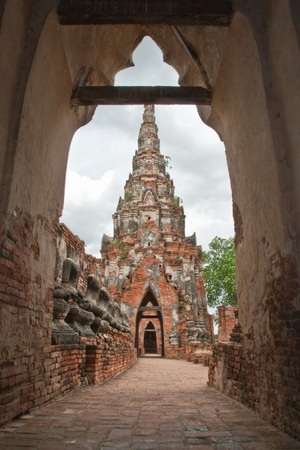 Wat Chaiwattanaram temples arch,Ayutthaya,Thailand