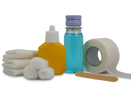 first aid kit-antibacterial agent for external use only Stock Photo - 9143736