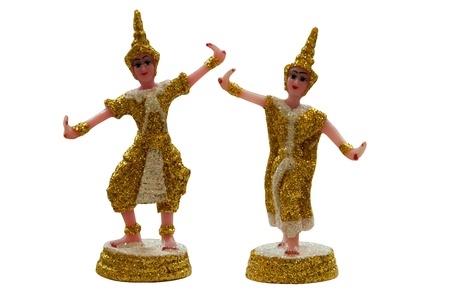 believable: thai tradition dancing doll,thai spirit believable,for watch over the house Stock Photo