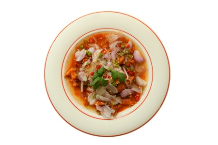 canned  mackerel fish salad (thai cuisine) Stock Photo - 9507973