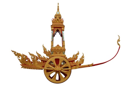 diecut: the chariot in thai style, use in thai traditional