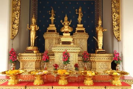 5 guardian spirit of gods, interior of city pillar shrine, Bangkok, Thailand