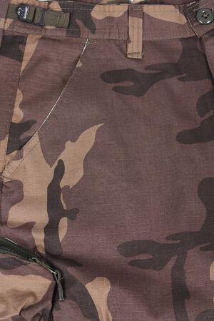 camoflauge: close-up brown camoflauge pocket pants