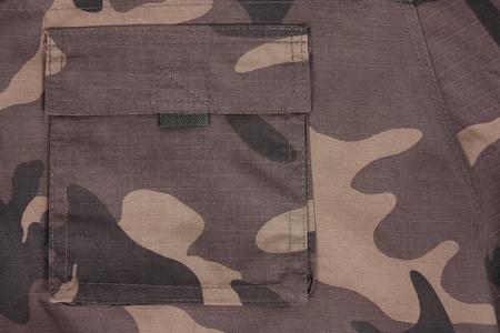 close-up brown camoflauge pocket pants