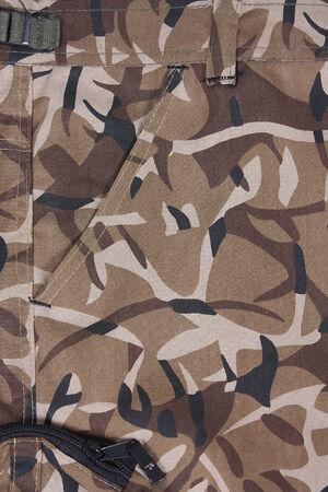 closeup brown camoflage pocket pants Stock Photo