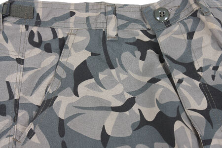 abstract camoflage military pocket pants photo