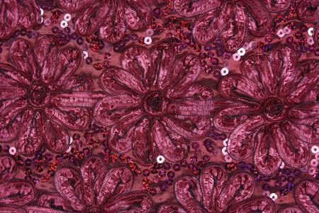 the beautiful ribbon red chrysanthemum background Stock Photo