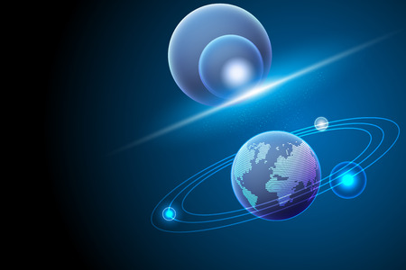 Global and galaxy,Digital communication,concept abstract background,Vector illustration.