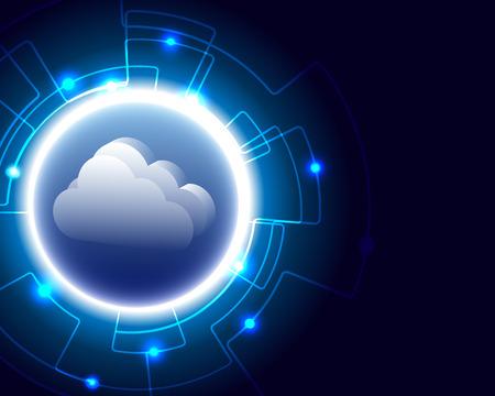 Cloud server computing business Transaction bigdata storage nuovo concetto di tecnologia. illustrazione vettoriale eps10.