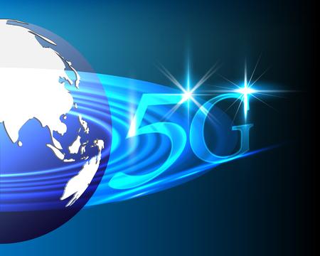 World global internet network connection 5G big data information technology connecting business model concepts. Vector illustration eps10 Illustration