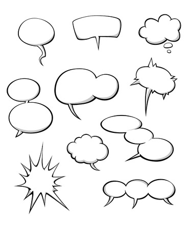 Cartoon dialog clouds set for comics or another design