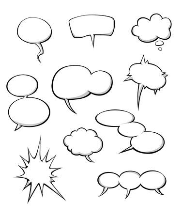 Cartoon dialog clouds set for comics or another design