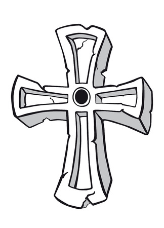 Ancient cross symbol for religious and spiritual design Vector