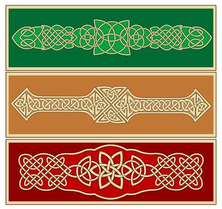 ケルト族の装飾とデザインで、華やかなパターン  イラスト・ベクター素材