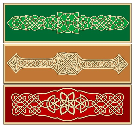 Celtic ornaments and patterns for design and ornate Vector