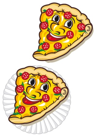 Appetizing pizza on the plate for fastfood design