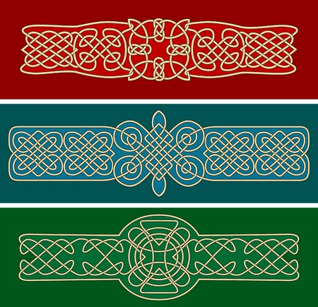Celtic ornaments and patterns for design and ornate Vettoriali