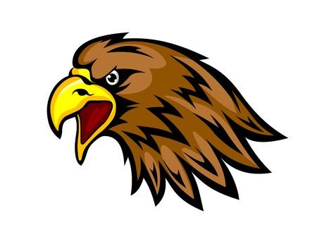 Eagle-Kopf im Cartoon-Stil für Design Maskottchen oder Embleme. Vektor-Illustration