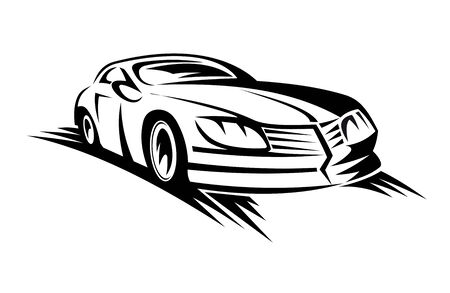 shiny car: Fast moving car for race sports design