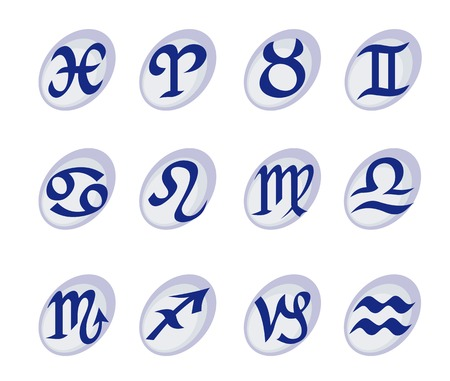 Horoscope signs and symbols for astrological design Vector
