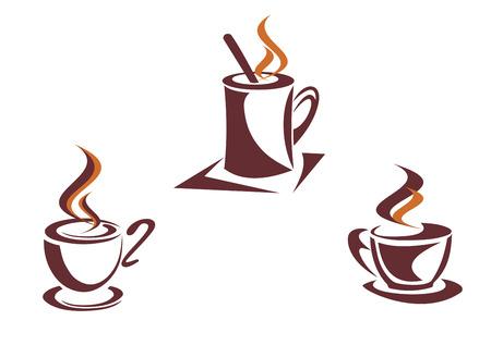 Coffee symbols for restaurant or cafe design