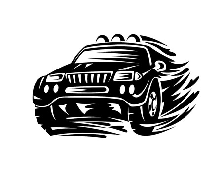 rally car: Crossover car for extreme sports design. Vector illustration