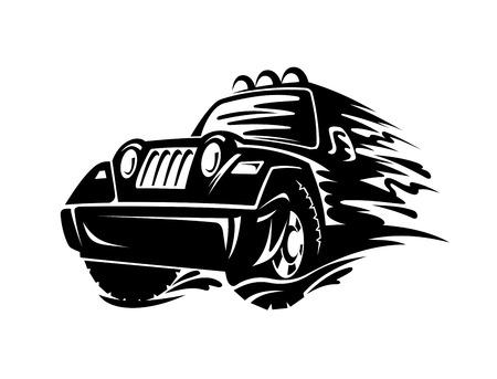 crossover: Crossover car for race sports design. Vector illustration Illustration